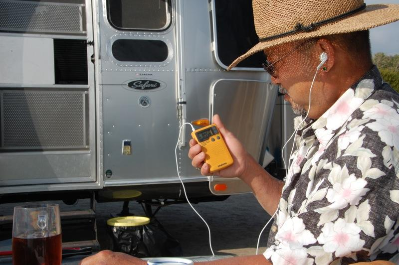 2.weather radio while camping